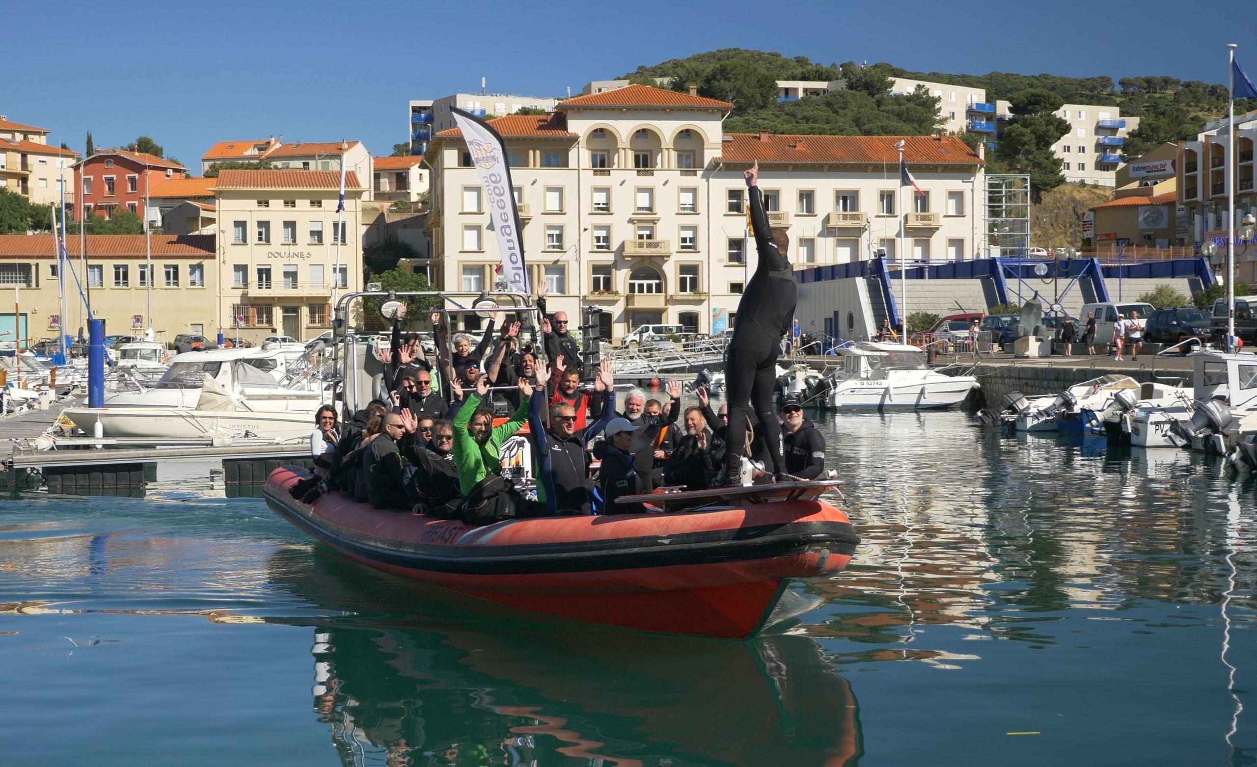 Départ pour une sortie plongée sur épaves Port-Vendres